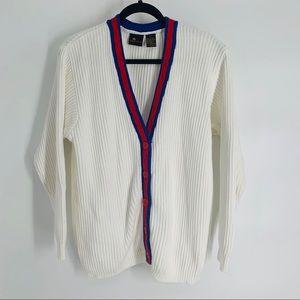 Liz Sport Classic Cotton Button Down Sweater, P